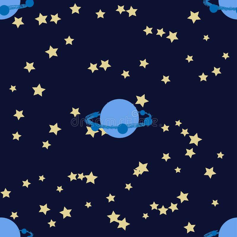 Free Seamless Outer Space Ufo Rocket Science Kids Background Pattern Stock Photography - 190550362