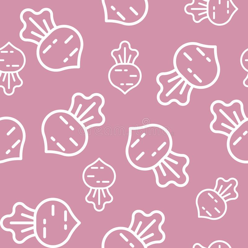 Seamless Outline beetroot vegetable pattern for wallpaper or use. As wrapping paper, vector illustration vector illustration
