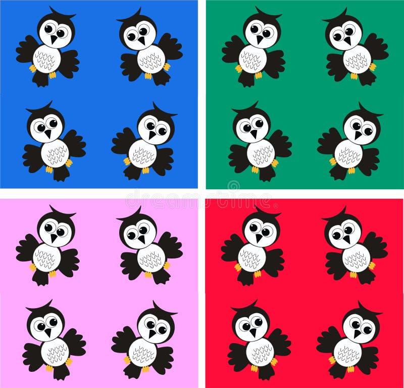 Download Seamless owl pattern stock vector. Image of bird, animal - 15115491