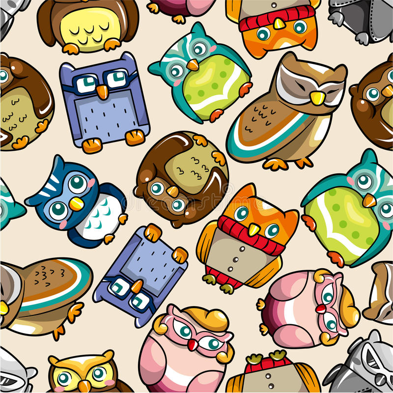 Download Seamless Owl Pattern Stock Photography - Image: 18718152