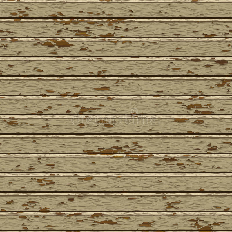Seamless painted wood plank texture stock illustration