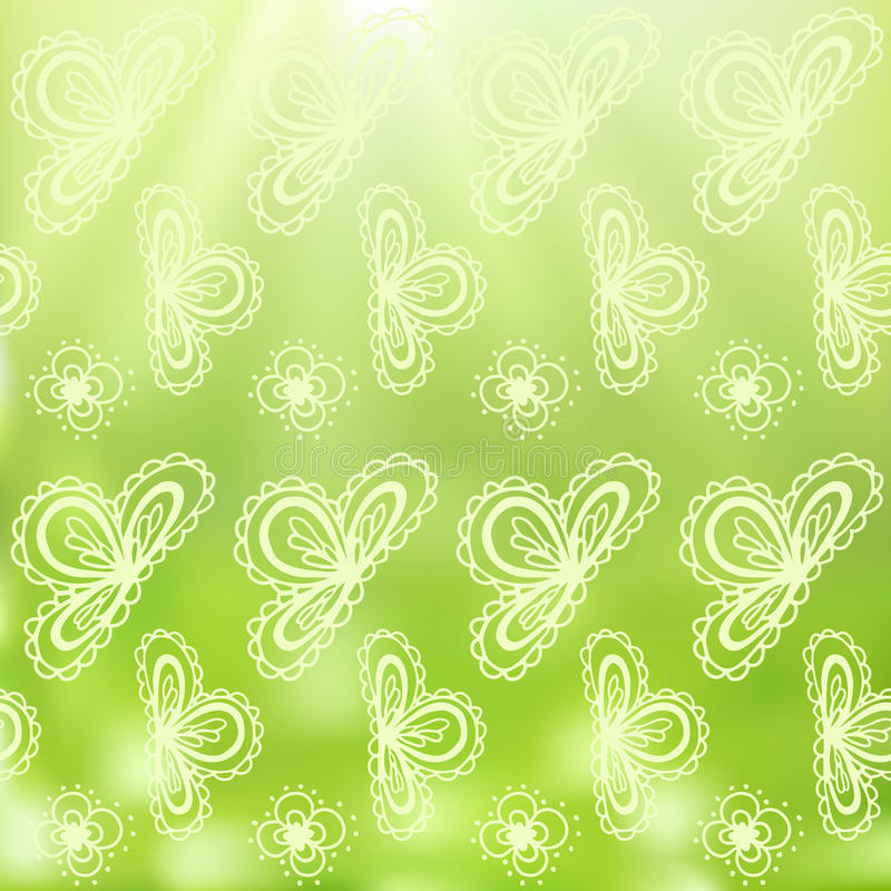 Seamless paisely background stock illustration