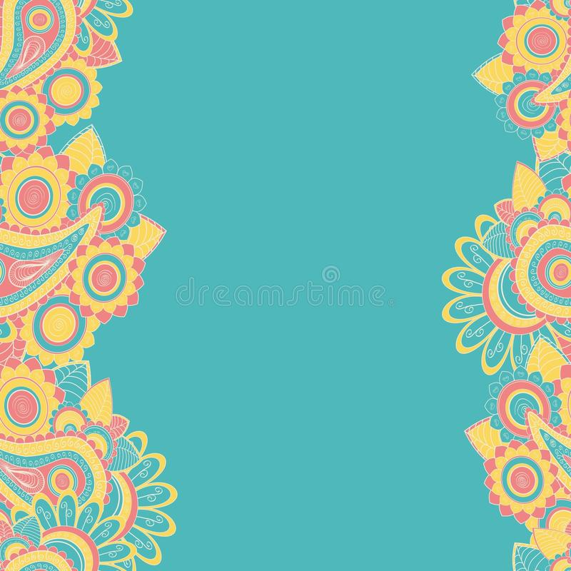Seamless paisely border background royalty free illustration