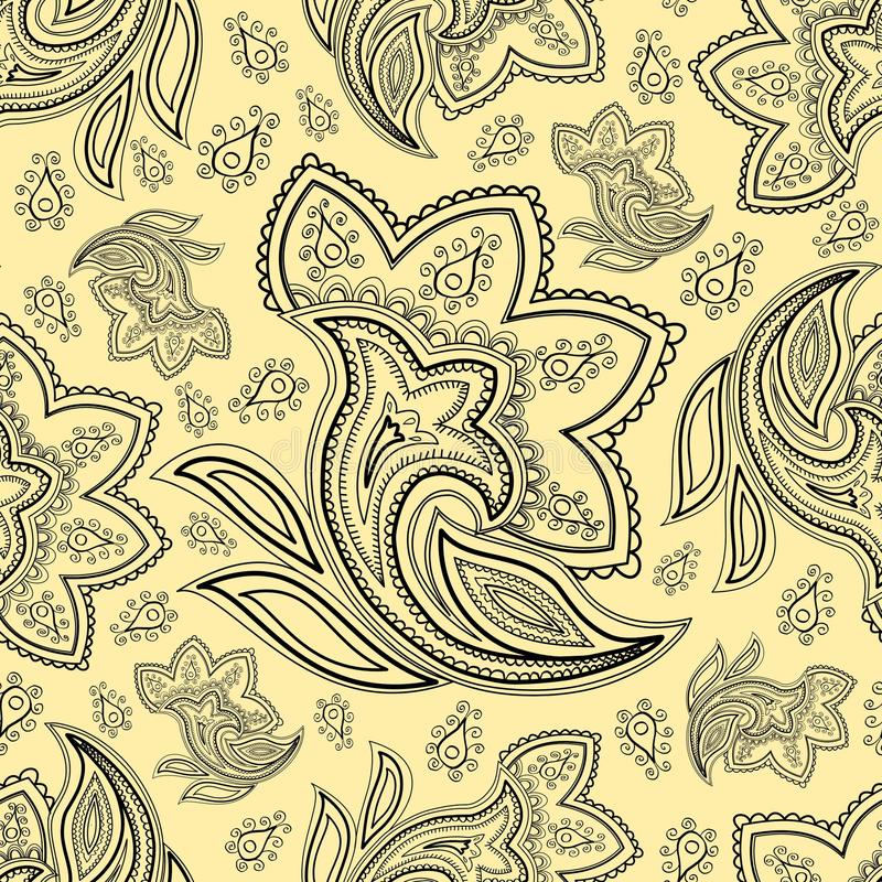 Free Seamless Paisely Pattern Royalty Free Stock Images - 28754769