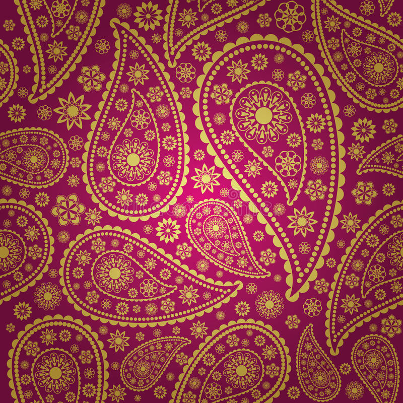 seamless paisley stock illustrationer
