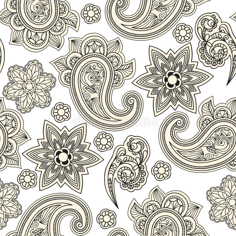 Download Seamless Paisley Background, Stock Photography - Image: 20336552