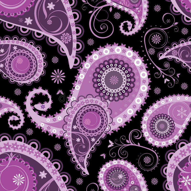 Seamless paisley background royalty free illustration