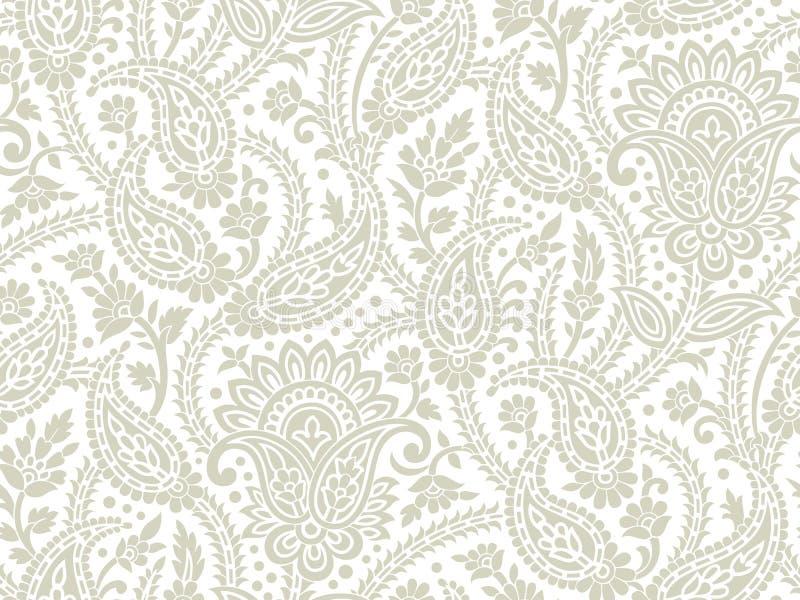 Seamless paisley background royalty free illustration