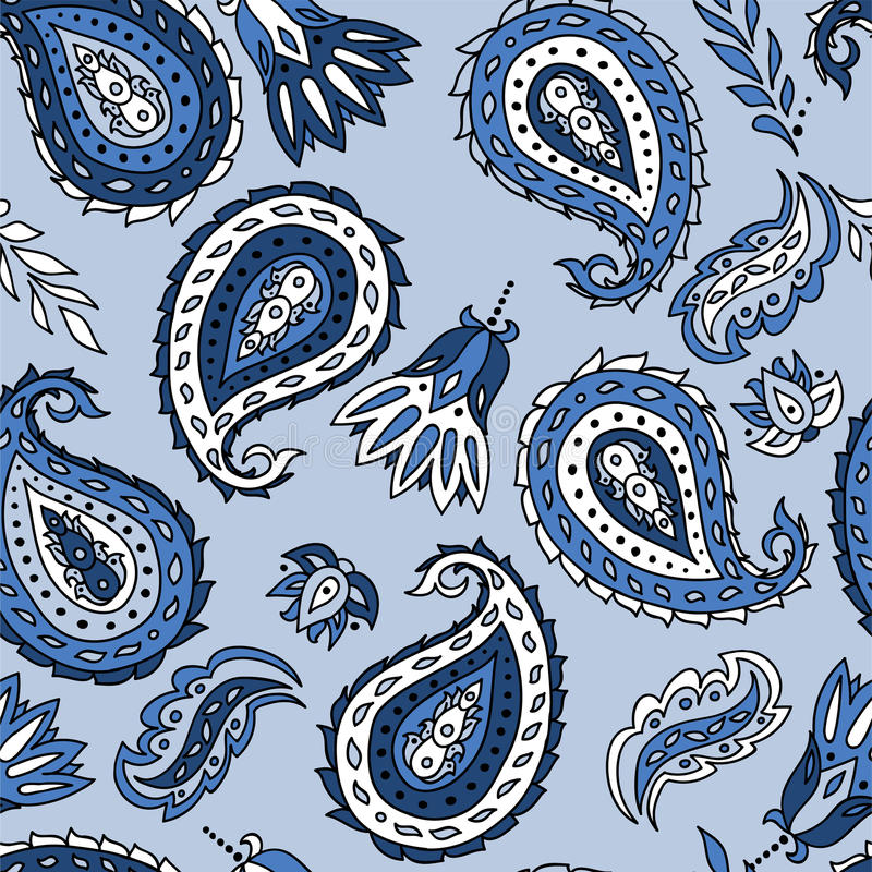 seamless paisley modell stock illustrationer