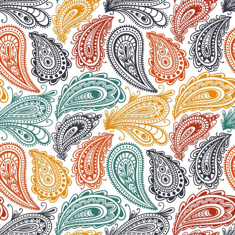 seamless paisley modell Prydnad för textiler som dras i stilen av klottret Etniska och stam- motiv också vektor för coreldrawillu vektor illustrationer