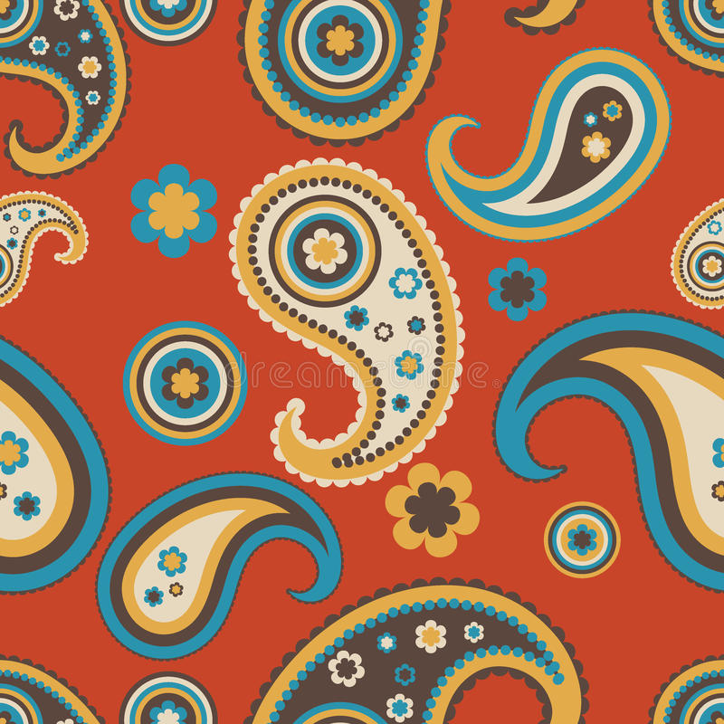 Free Seamless Paisley Pattern Stock Photography - 15776192