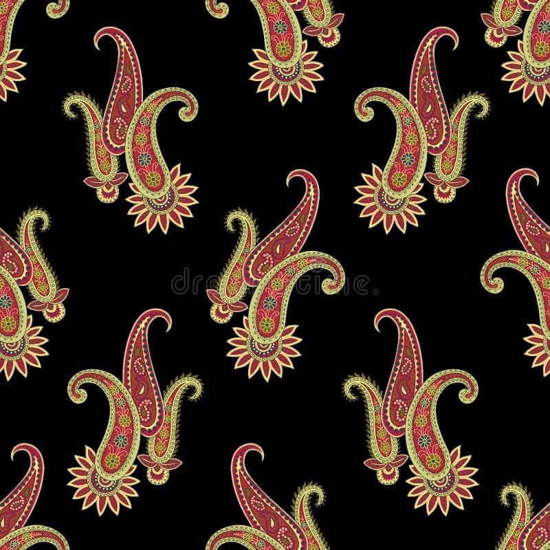 Seamless paisley pattern stock illustration