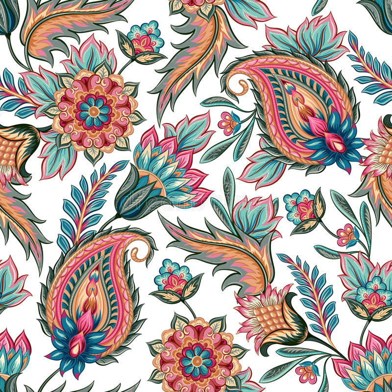 Seamless Paisley Pattern royalty free illustration