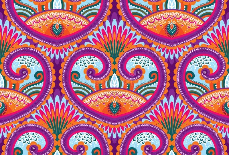 Seamless paisley pattern royalty free illustration