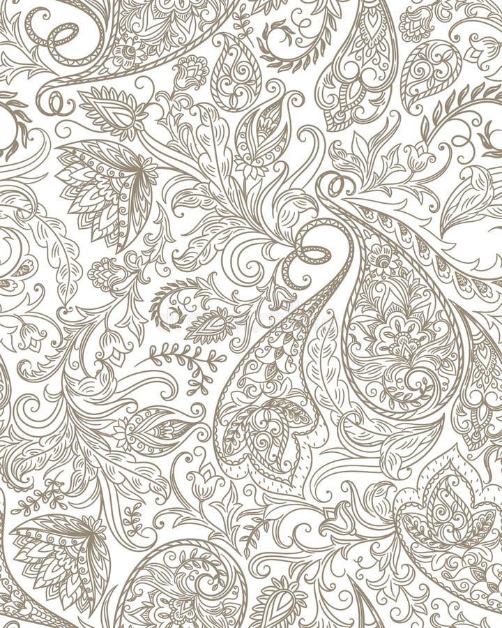 Seamless Paisley Pattern vector illustration