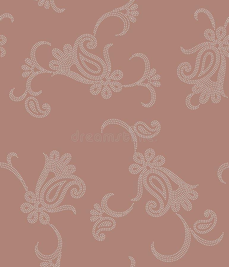 Seamless paisley polka dot vector illustration