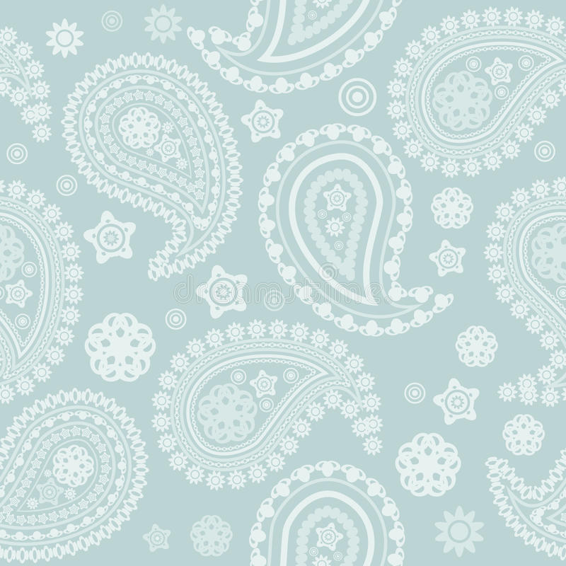 Download Seamless Pale Paisley Texture Stock Vector - Image: 27112408