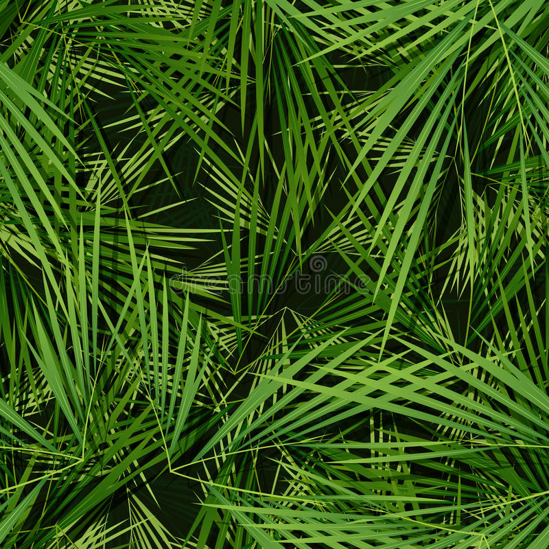 Seamless Palm Trees Leaves Wallpaper royalty free illustration