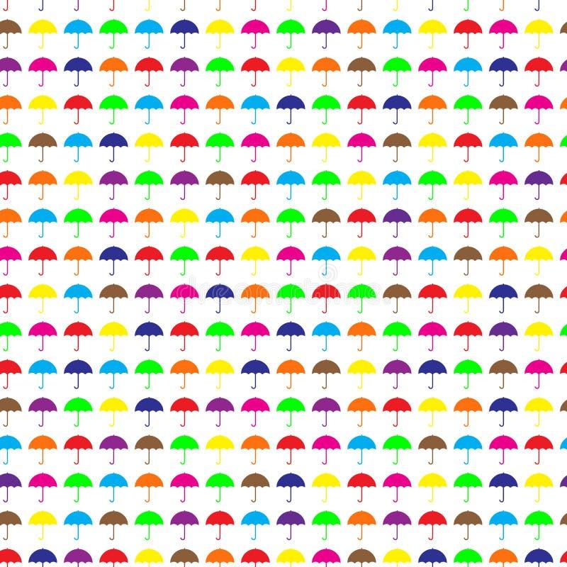 seamless paraplyer för modell royaltyfri illustrationer