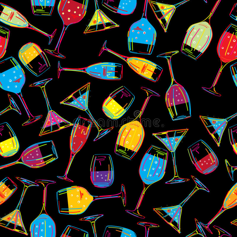 Seamless Party Background Royalty Free Stock Images