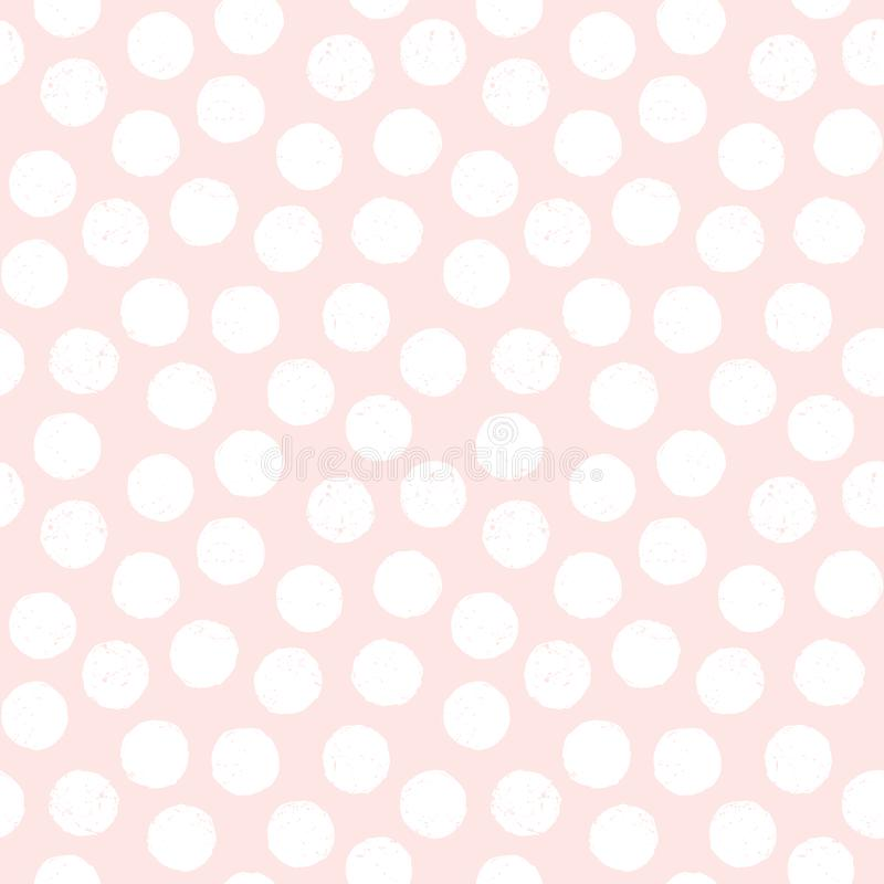 Seamless pastel background polka dots blush pink white royalty free illustration