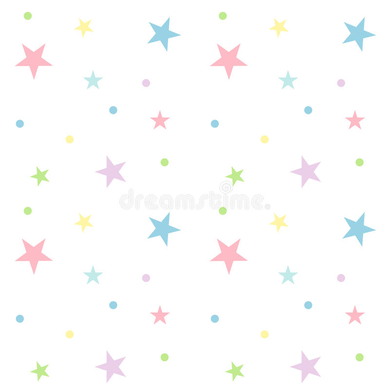 Seamless pastel star pattern. stock illustration