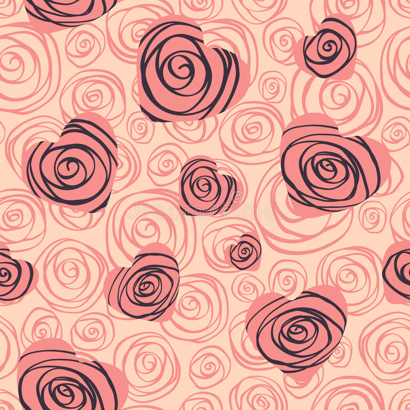 Download Seamless Patern Hearts And Rose Stock Photography - Image: 28777612