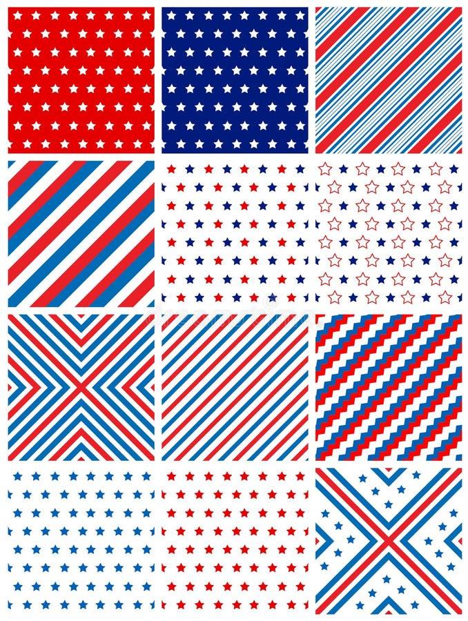 seamless patriotisk modell stock illustrationer