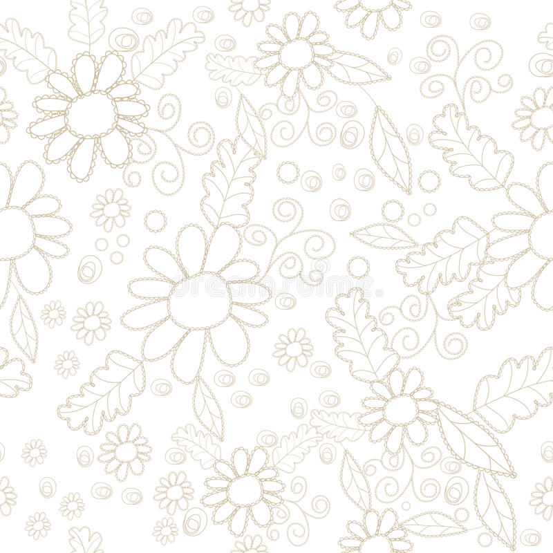 Download Seamless pattern stock vector. Image of wallpaper, blossom - 15506133