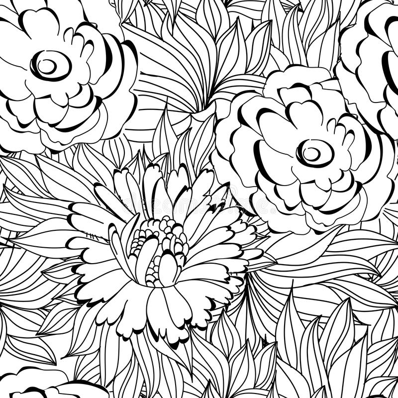 Download Seamless pattern stock vector. Illustration of flowers - 17404464