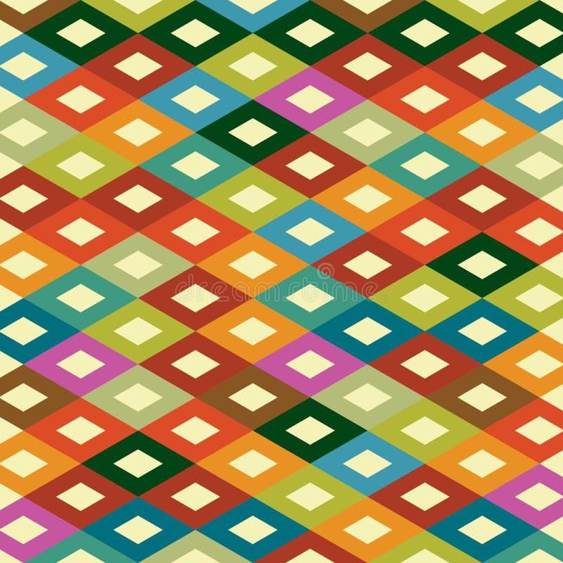 Seamless pattern. Seamless geometric pattern in diamond shape royalty free illustration