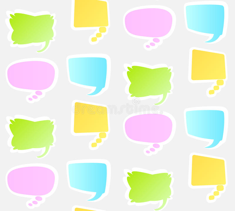 Seamless pattern. With speech bubbles. Abstract illustration vector illustration