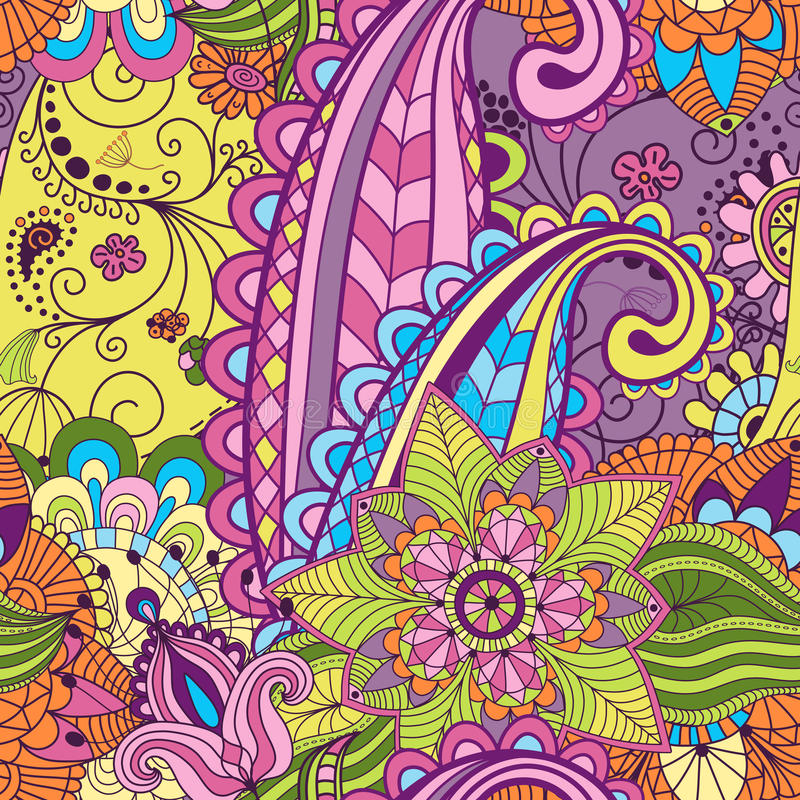 Seamless pattern. Seamless vivid colorful floral pattern (vector vector illustration