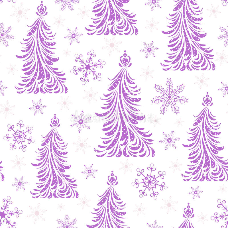 Download Seamless Pattern With Abstract Christmas Trees Stock Photos - Image: 26805883