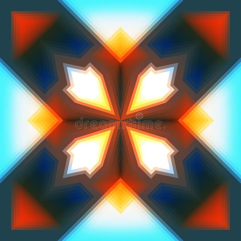 Seamless pattern. Abstract colorful geometric shape seamless pattern stock illustration