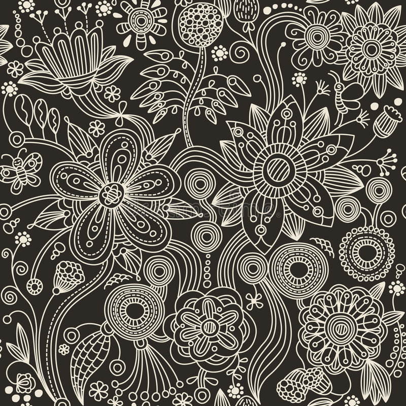 Free Seamless Pattern - Abstract Flowers Stock Photo - 9098000