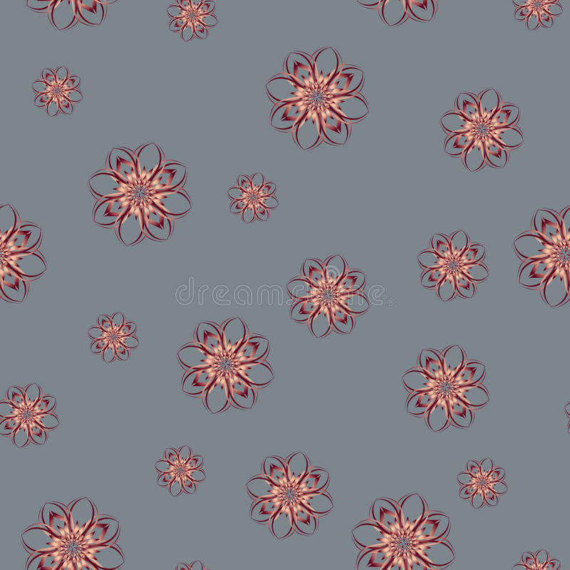 Seamless pattern with abstract flowers. Elegant decoration royalty free illustration