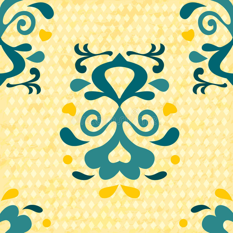 Seamless pattern with abstract flowers. Vector background. stock illustration
