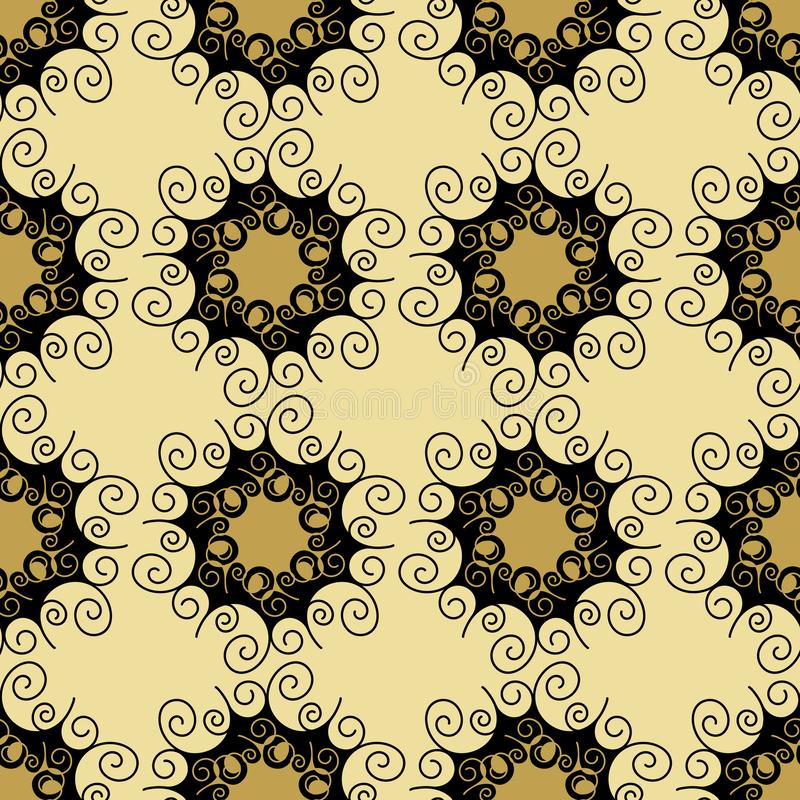 Seamless pattern. Abstract geometric background with hexagonal motif. Lace structure, decorative Wallpaper, elegant ornament for. Hand drawn Seamless pattern stock illustration