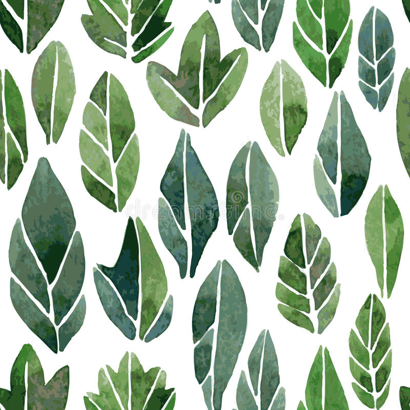 Seamless pattern with abstract leaves royalty free illustration