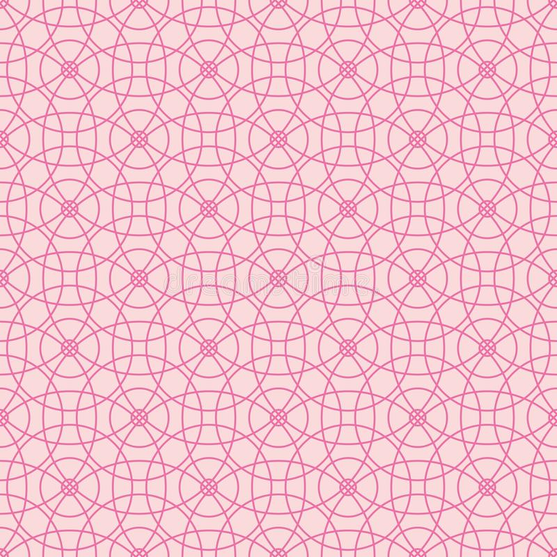 Seamless pattern of abstract pink circles on a light pink background for fabric, wallpaper, tablecloths, prints and designs. The EPS file vector has a pattern vector illustration
