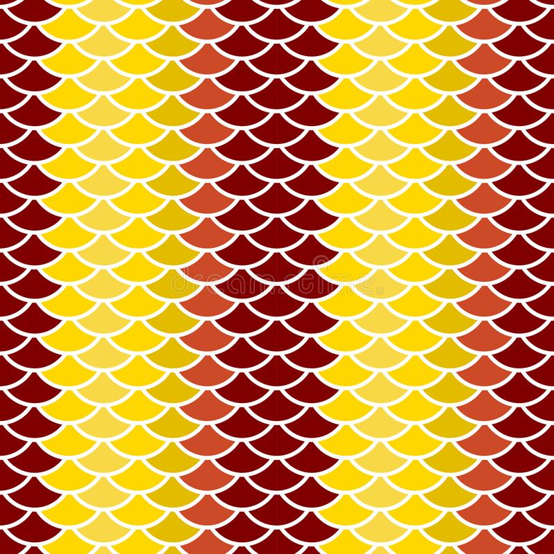 seamless pattern abstract scales simple background with circle pattern white khaki beige brown burgundy orange. Can be used for stock illustration