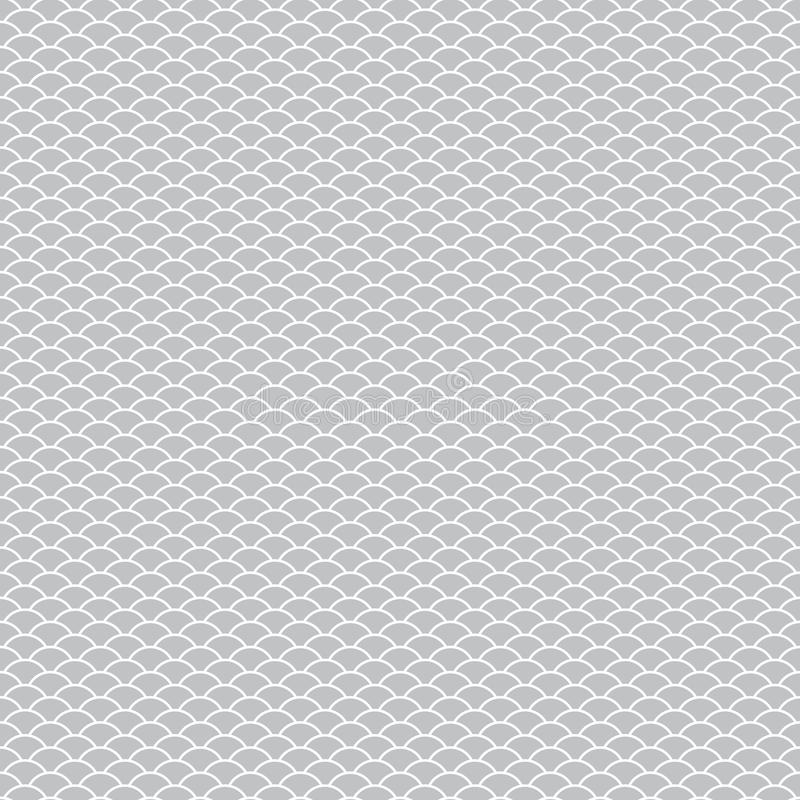 Seamless pattern abstract scales simple background with circle pattern white gray. Can be used for fabrics, wallpapers, websites. stock illustration