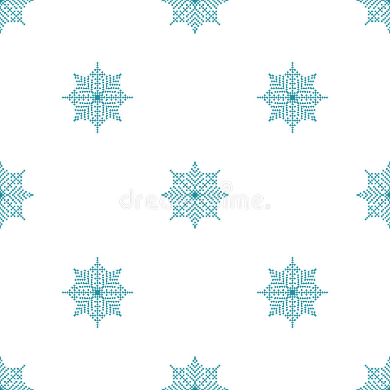 Seamless pattern with abstract snowflakes Light Christmas background vector illustration