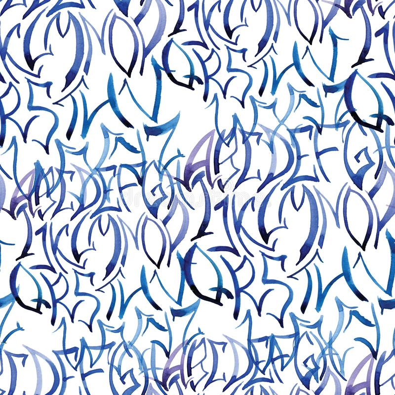 Seamless pattern of alphabet for scrapbooking, wrapping, wallpaper royalty free stock images