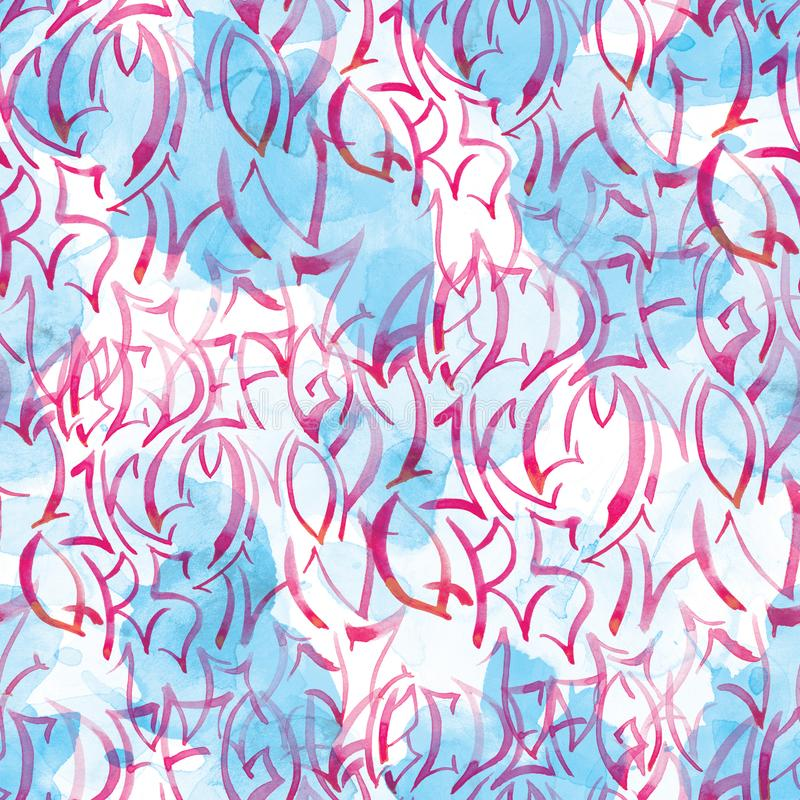 Seamless pattern of alphabet for scrapbooking, wrapping, wallpaper royalty free stock photos