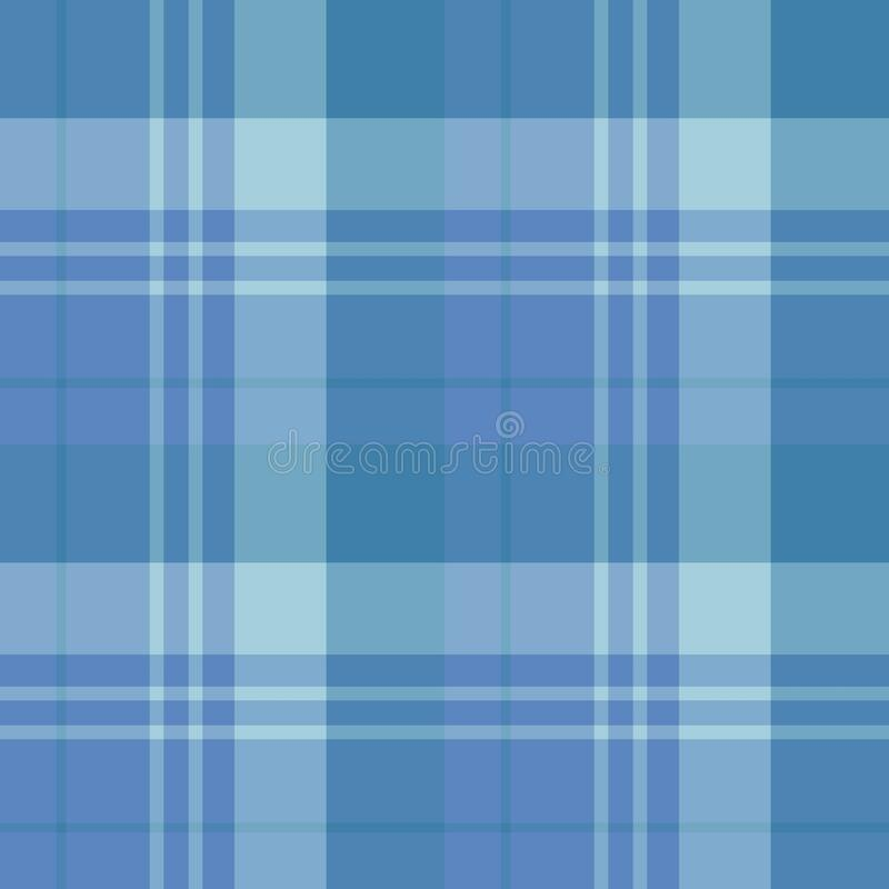 Seamless pattern in amazing dark blue colors for plaid, fabric, textile, clothes, tablecloth and other things. Vector image vector illustration