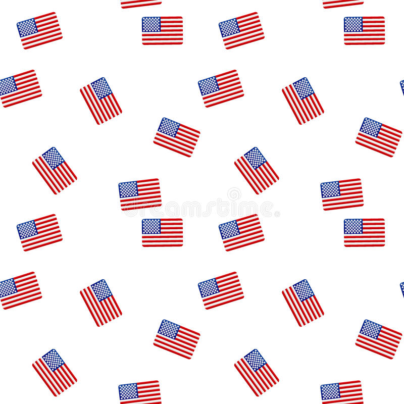 Seamless pattern with american flag stock photos