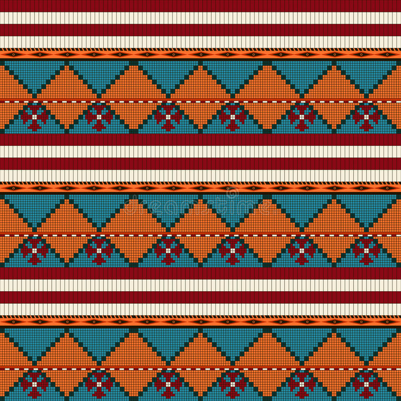 Seamless pattern. Of American indian motives royalty free illustration