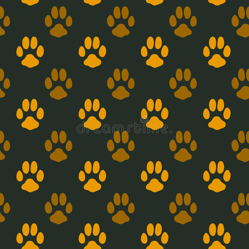 Seamless Pattern With Animal Footprint Texture Stock Vector ...